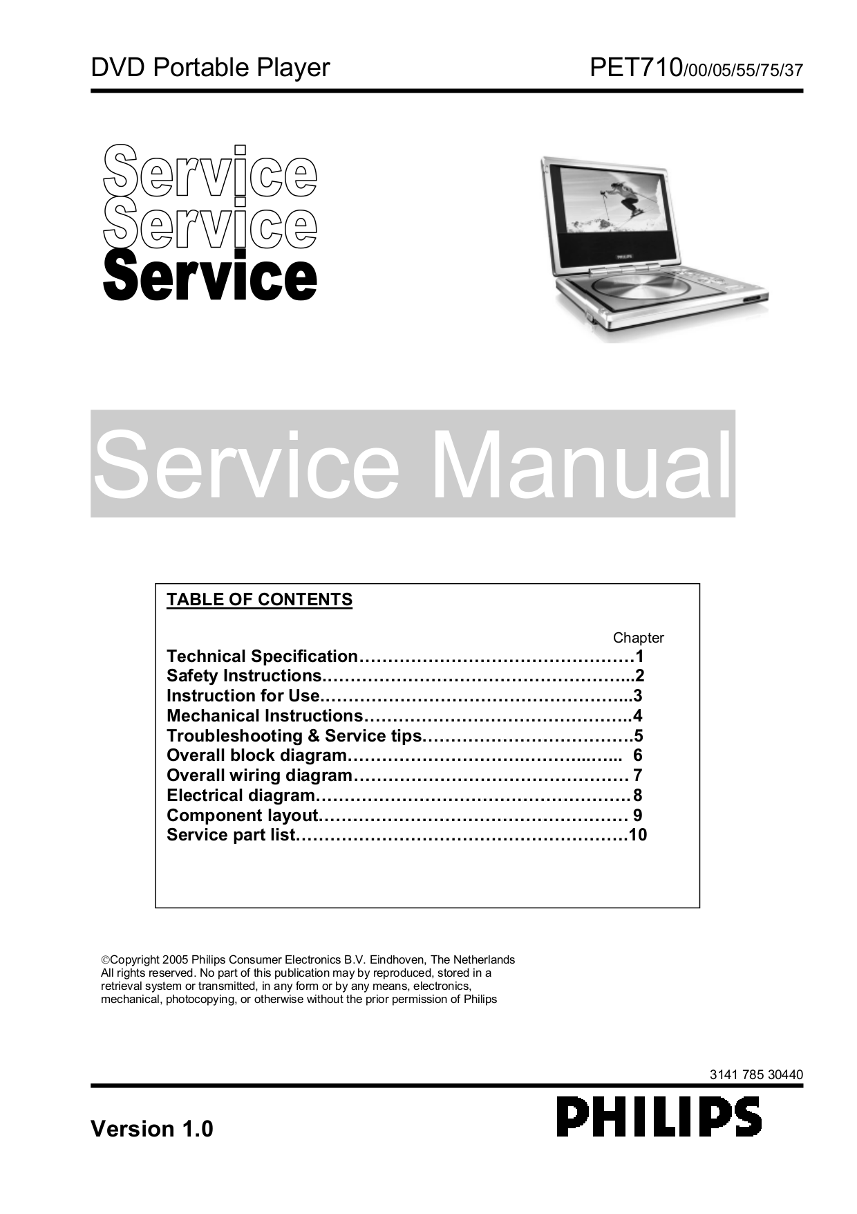 download free pdf for philips pet710 portable dvd player manual rh umlib com Philips Electronics DVD Players Philips Electronics DVD Players