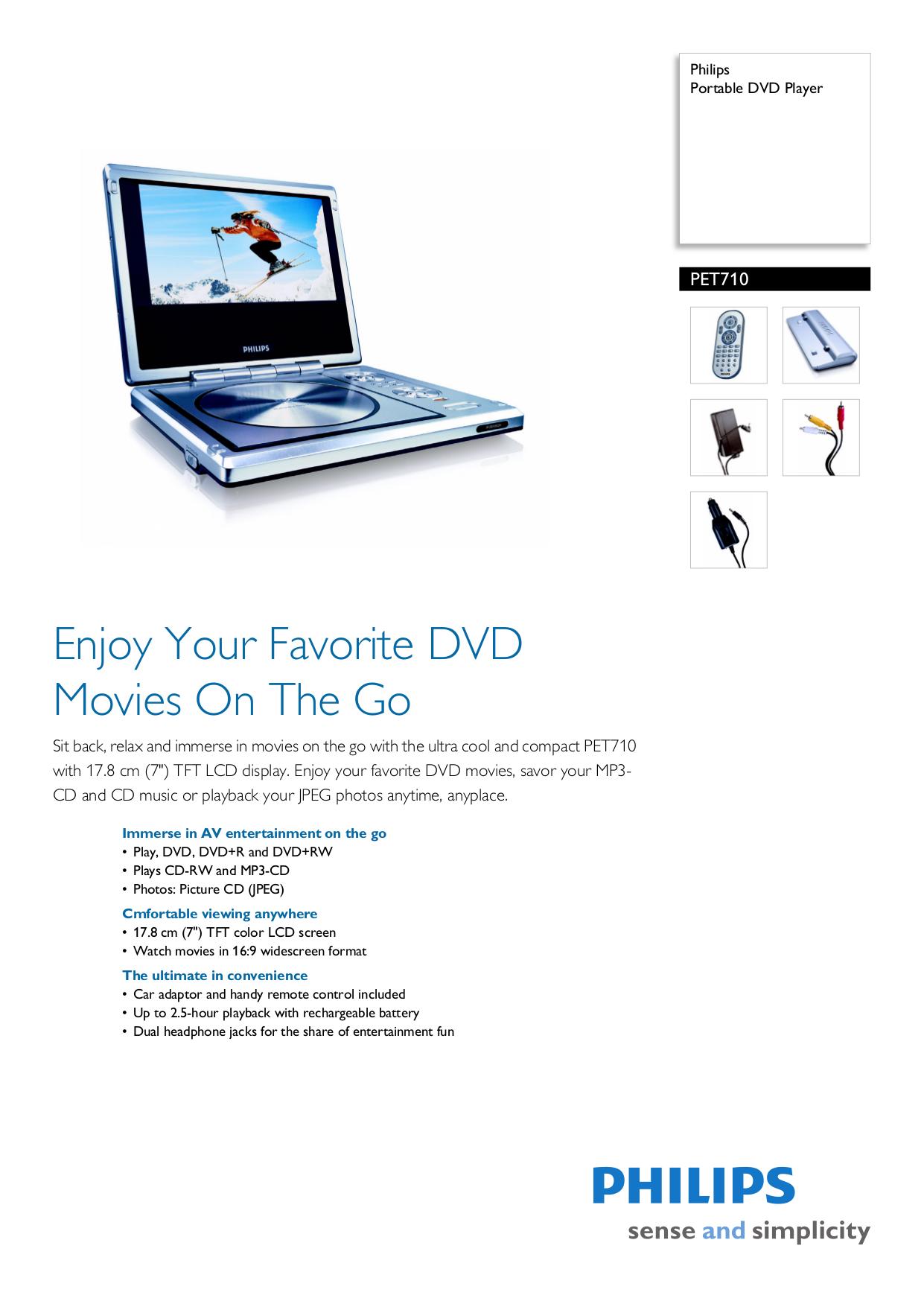 download free pdf for philips pet710 portable dvd player manual rh umlib com Philips Portable DVD Players Discount Philips DVD Players for Cars