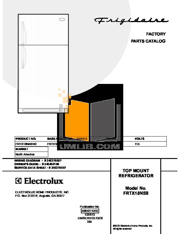 pdf for Frigidaire Refrigerator FRTX18N5BW2 manual
