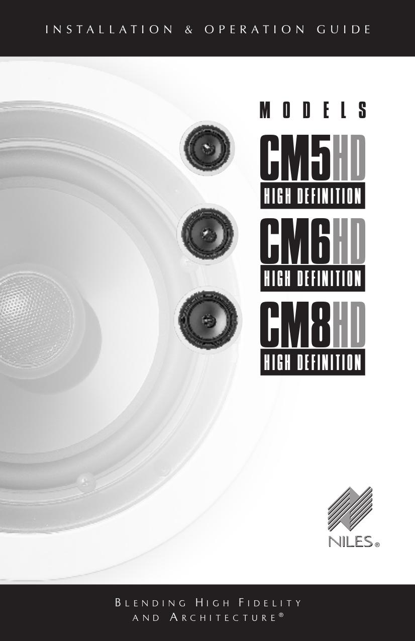 pdf for Niles Speaker CM8HD manual