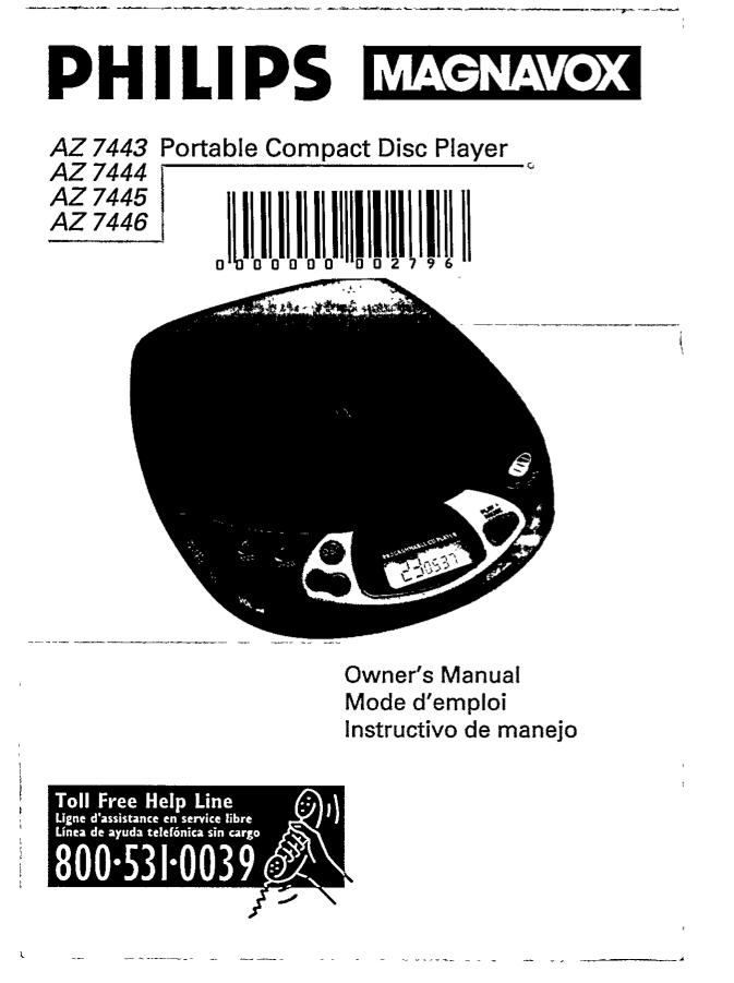 Philips Cd Player Manual