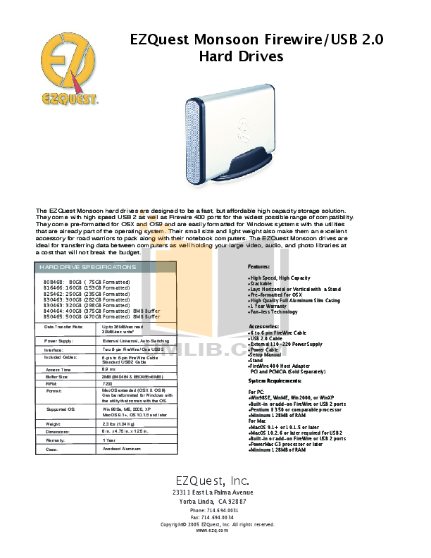 pdf for Ezquest Storage Monsoon B16466 manual