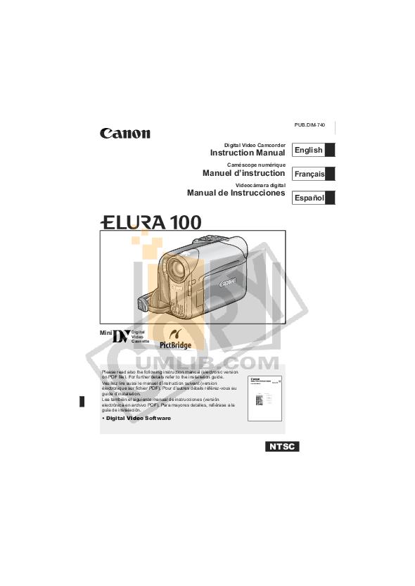 download free pdf for canon elura 50 camcorders manual rh umlib com Canon Vixia Canon Elura 60 Camcorder