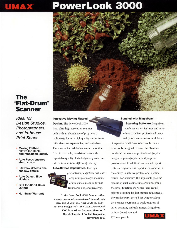pdf for Umax Scanner PowerLook 3000 manual