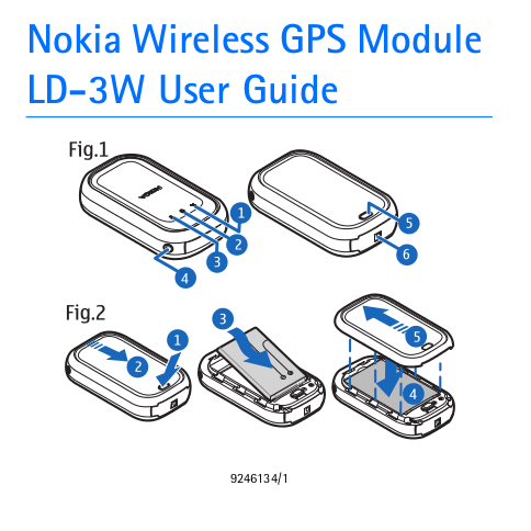 pdf for Nokia GPS LD-3W manual