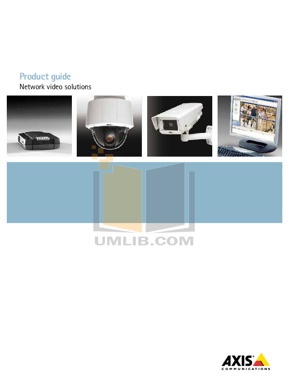 pdf for Axis Security Camera 209MFD manual