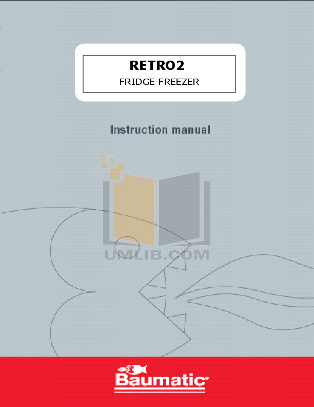 pdf for Baumatic Freezer RETRO2 manual