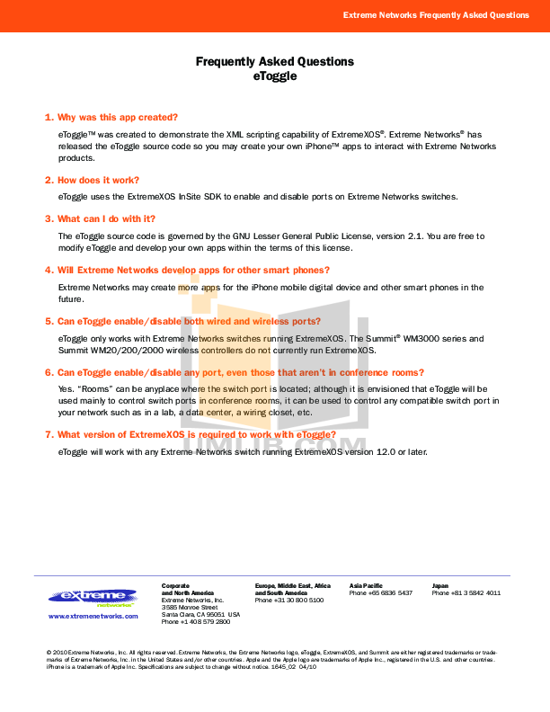 pdf for Extreme Other Summit WM20 Controller Controller manual