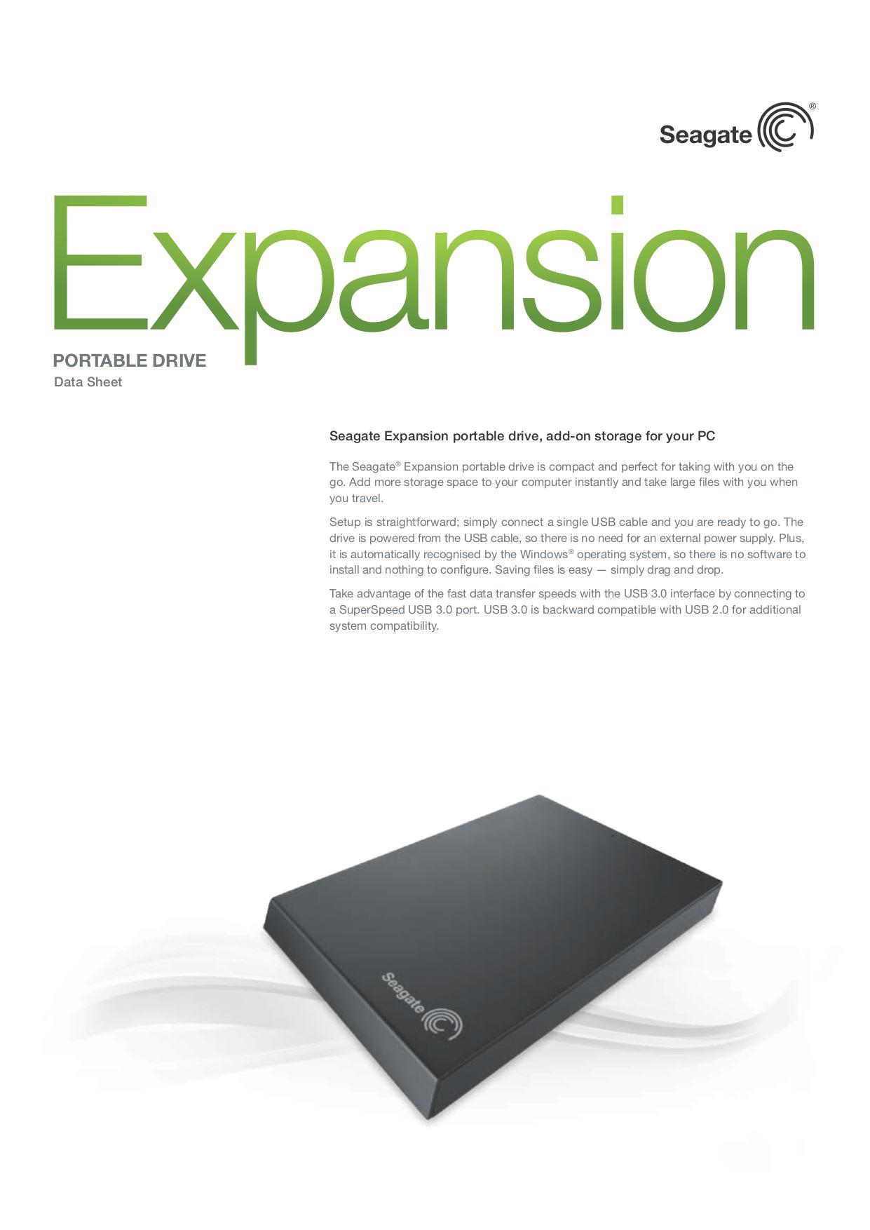 Download Free Pdf For Seagate Expansion Portable Drive 1tb Storage External Manual