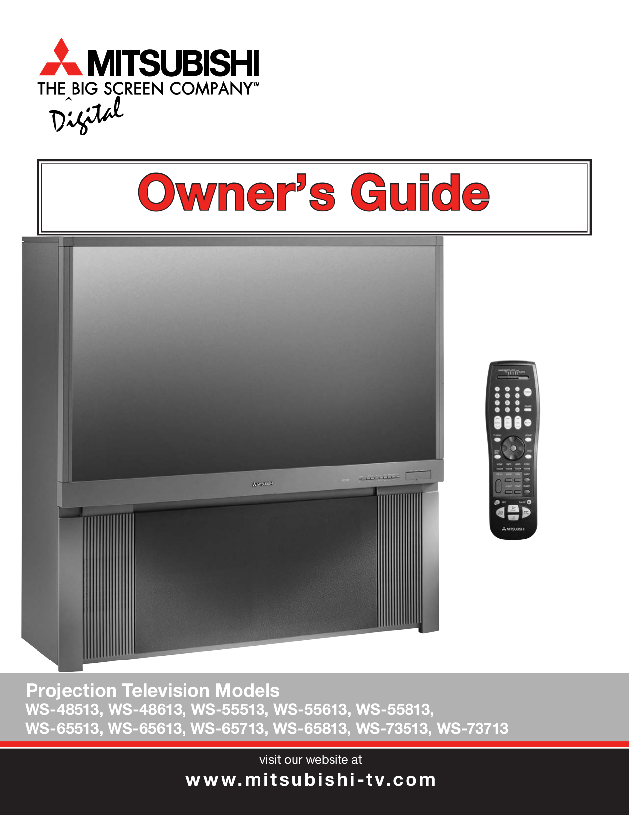 customer model mitsubishi ws free tv service brand category manual download for pdf