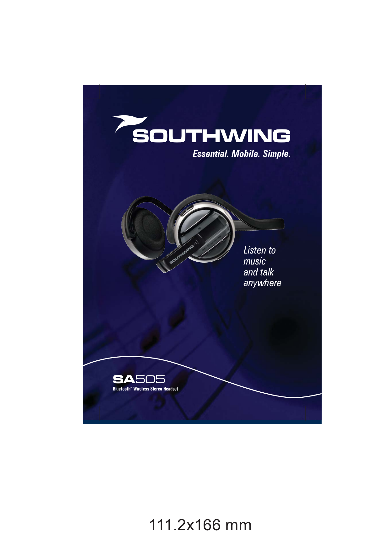 pdf for SouthWing Headset SH-505 manual