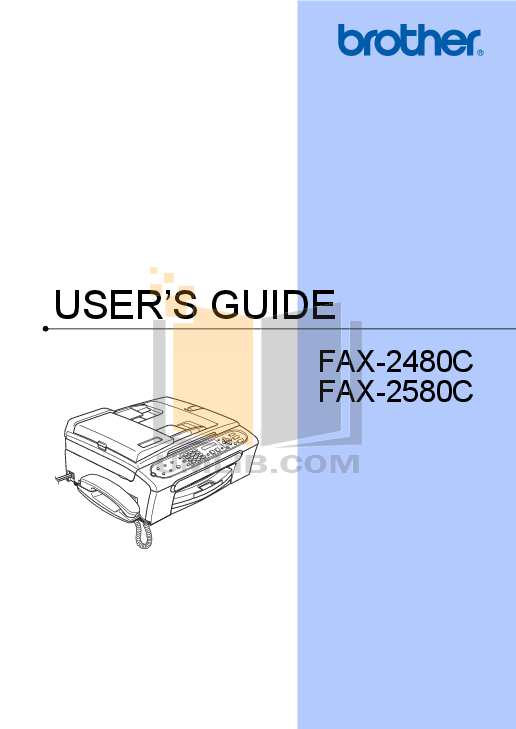 pdf for Brother Fax Machine FAX-50 manual