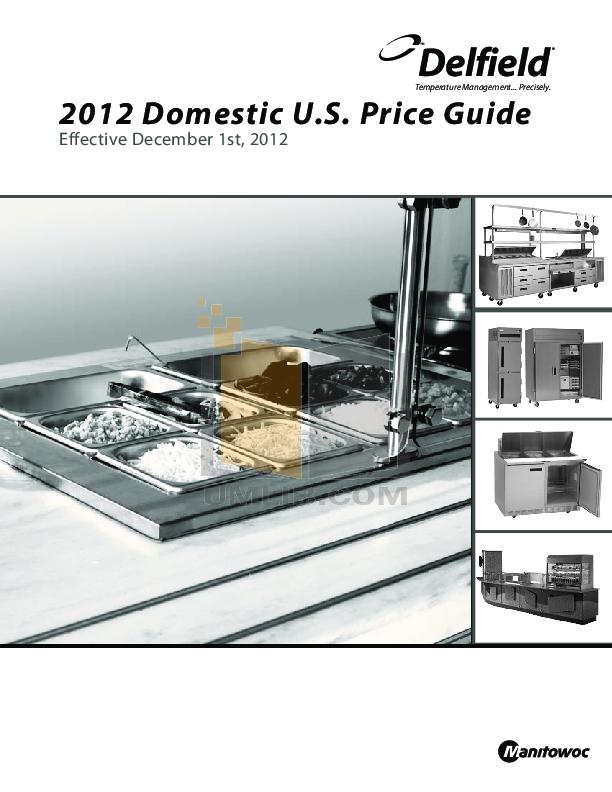 pdf for Delfield Refrigerator Shelleyspeed SPRH-68W manual