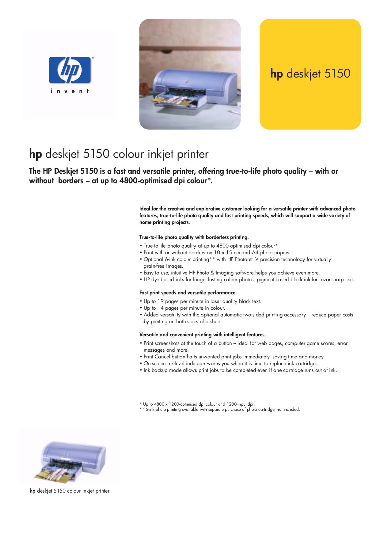 download free pdf for hp deskjet 5150 printer manual rh umlib com HP Printer 5130 HP Printer 5150 Troubleshooting