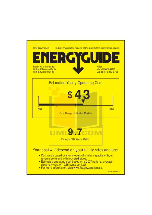 download free pdf for haier hwr05xc7 air conditioner manual rh umlib com Haier Furnace Manual Haier Furnace Manual