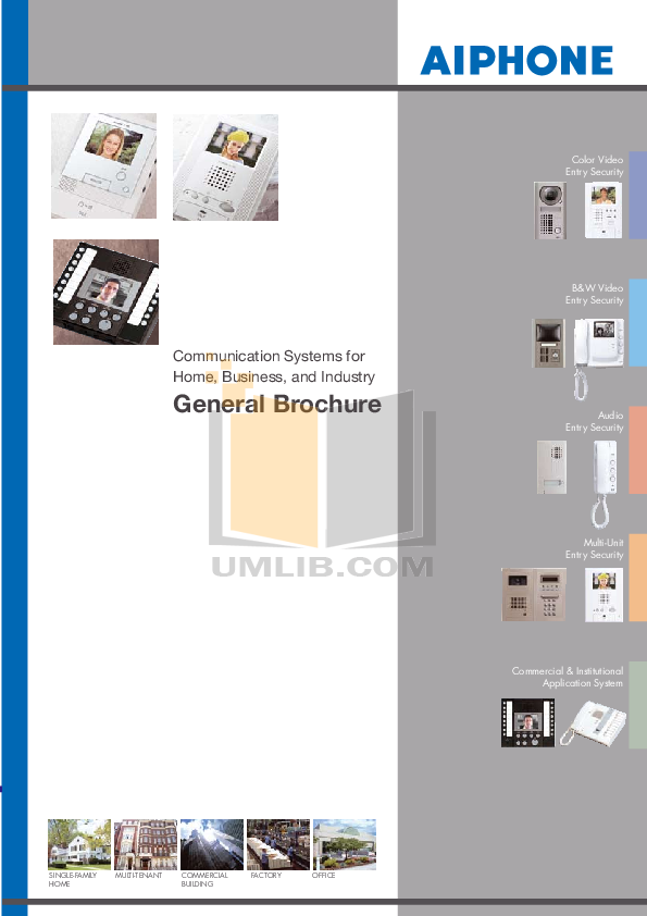 pdf for Aiphone Other TB-ADM10 Intercoms-Accessory manual