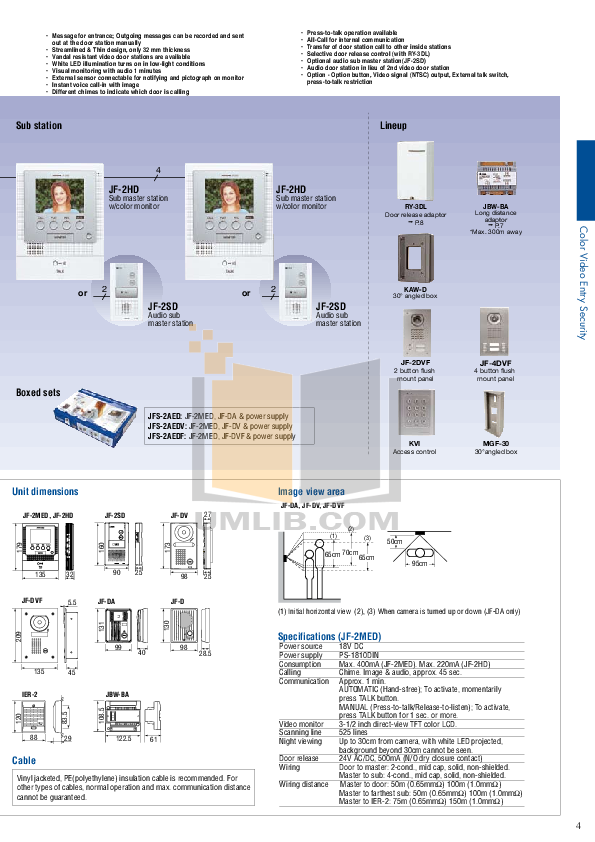 Aiphone Other TB-ADM10 Intercoms-Accessory pdf page preview