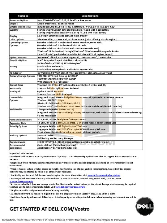 dell vostro 3700 manual pdf