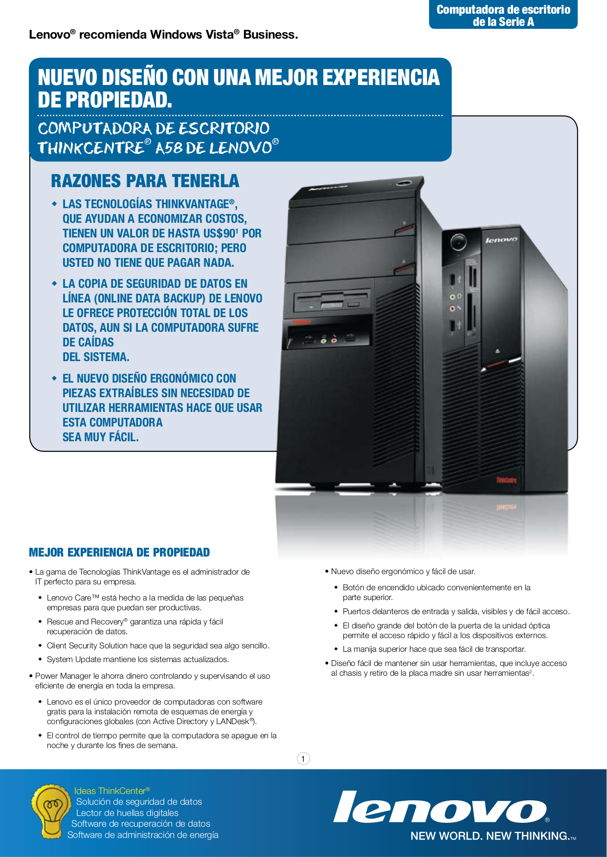 pdf for Lenovo Desktop ThinkCentre A58 7749 manual