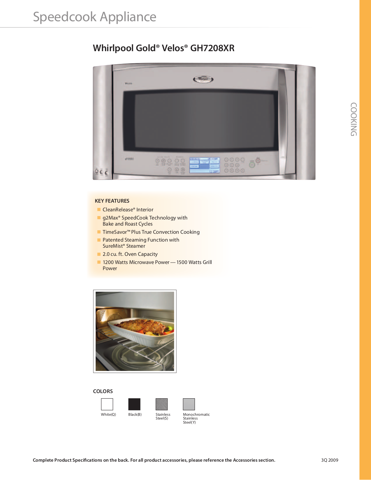 Free Pdf For Whirlpool Gold Gh7208xrs Microwave Manual