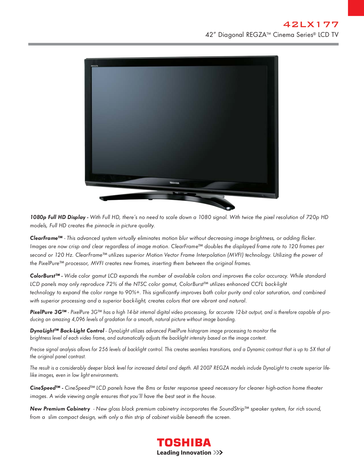 download free pdf for toshiba regza 42lx177 tv manual rh umlib com Toshiba 42 REGZA Manual Toshiba Regza 32 Manual