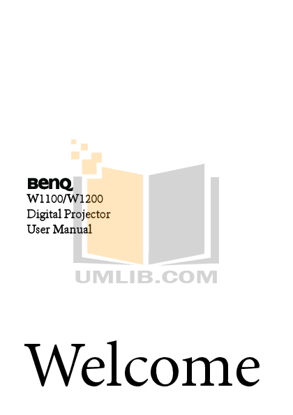 pdf for Benq Projector W1100 manual