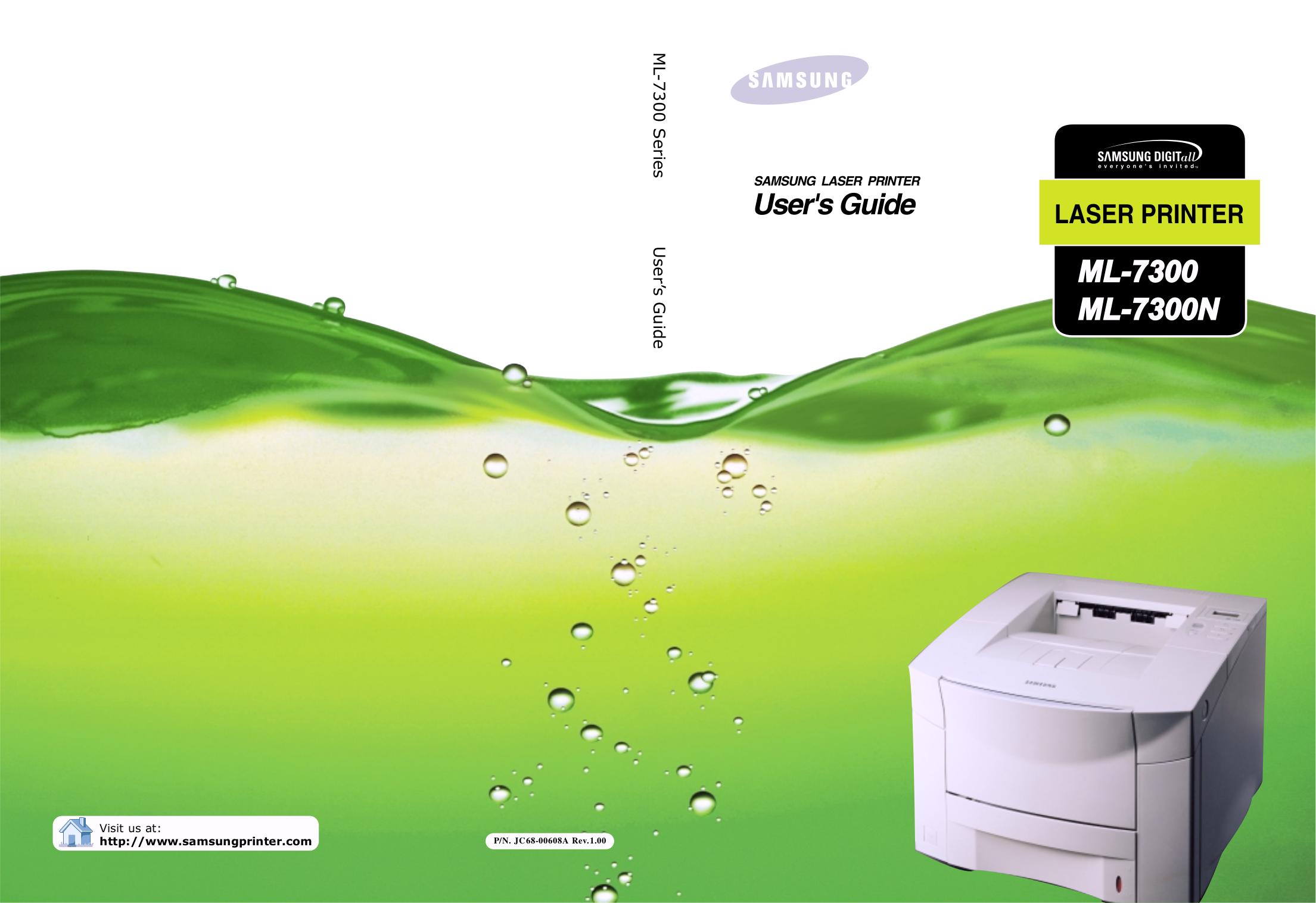 pdf for Samsung Printer ML-7300 manual
