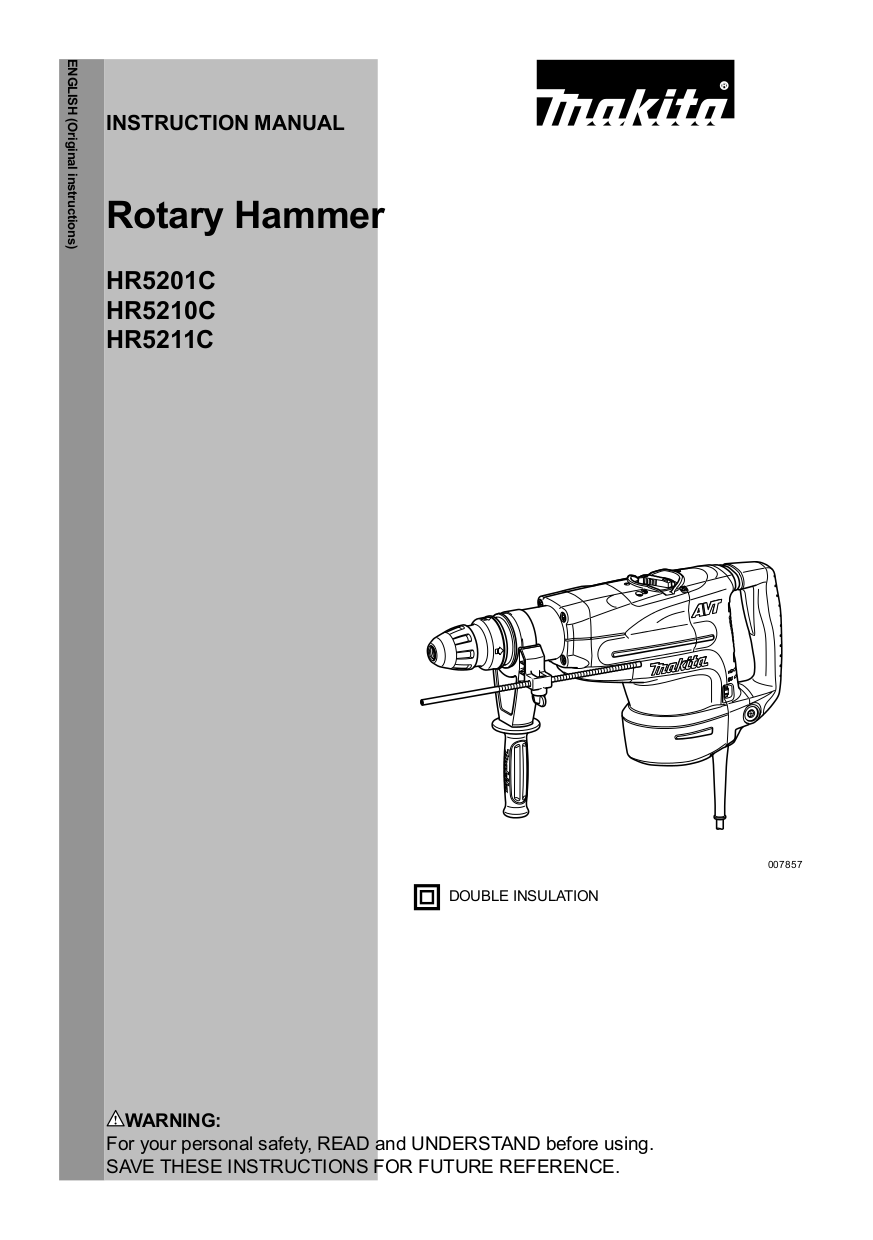 download free pdf for makita hr5210c rotary hammer other manual rh umlib com Online User Guide Example User Guide