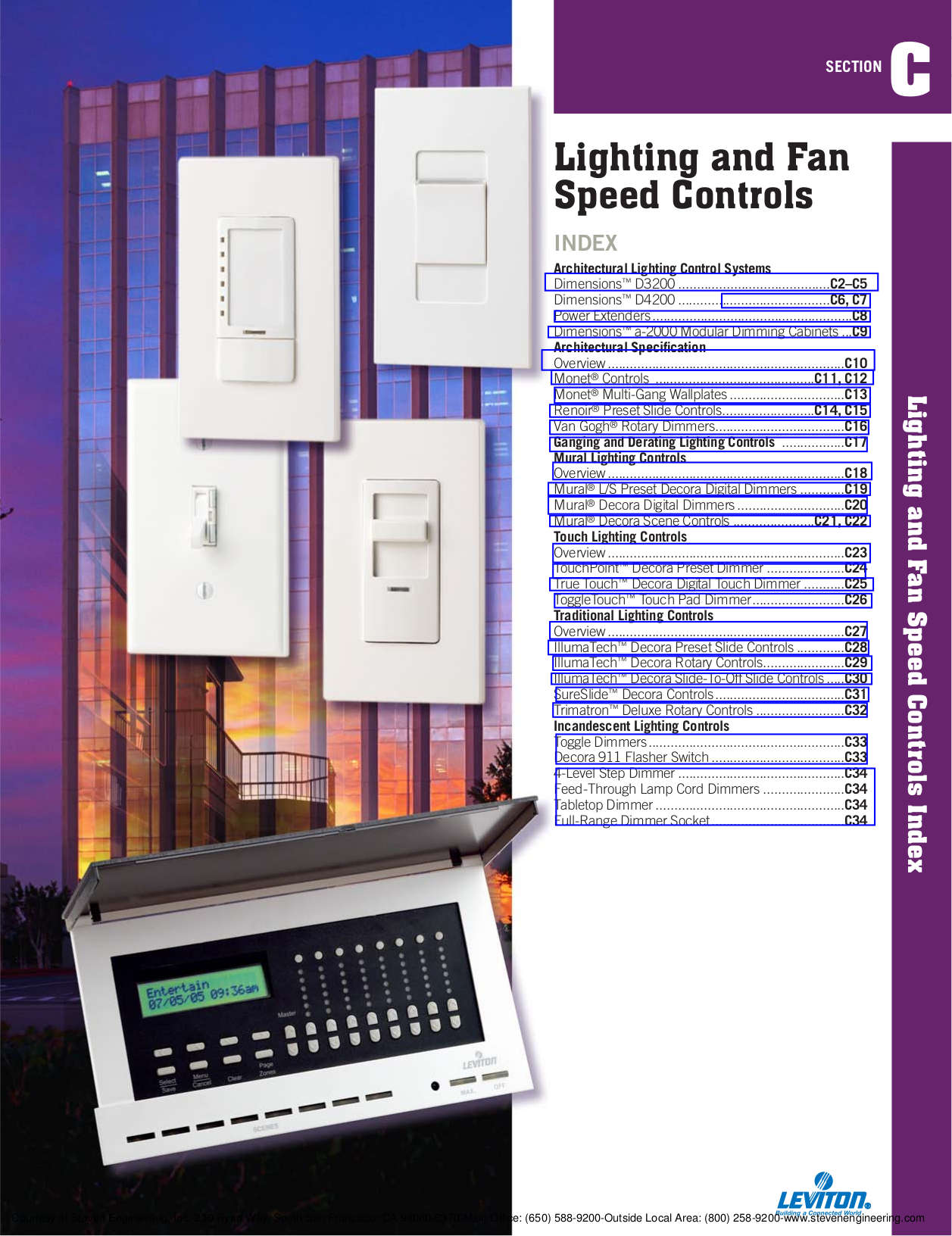 Download free pdf for Leviton Dimensions D3206 Lighting Controller ...