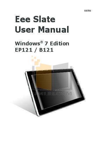 pdf for Asus Tablet Eee Slate B121 manual