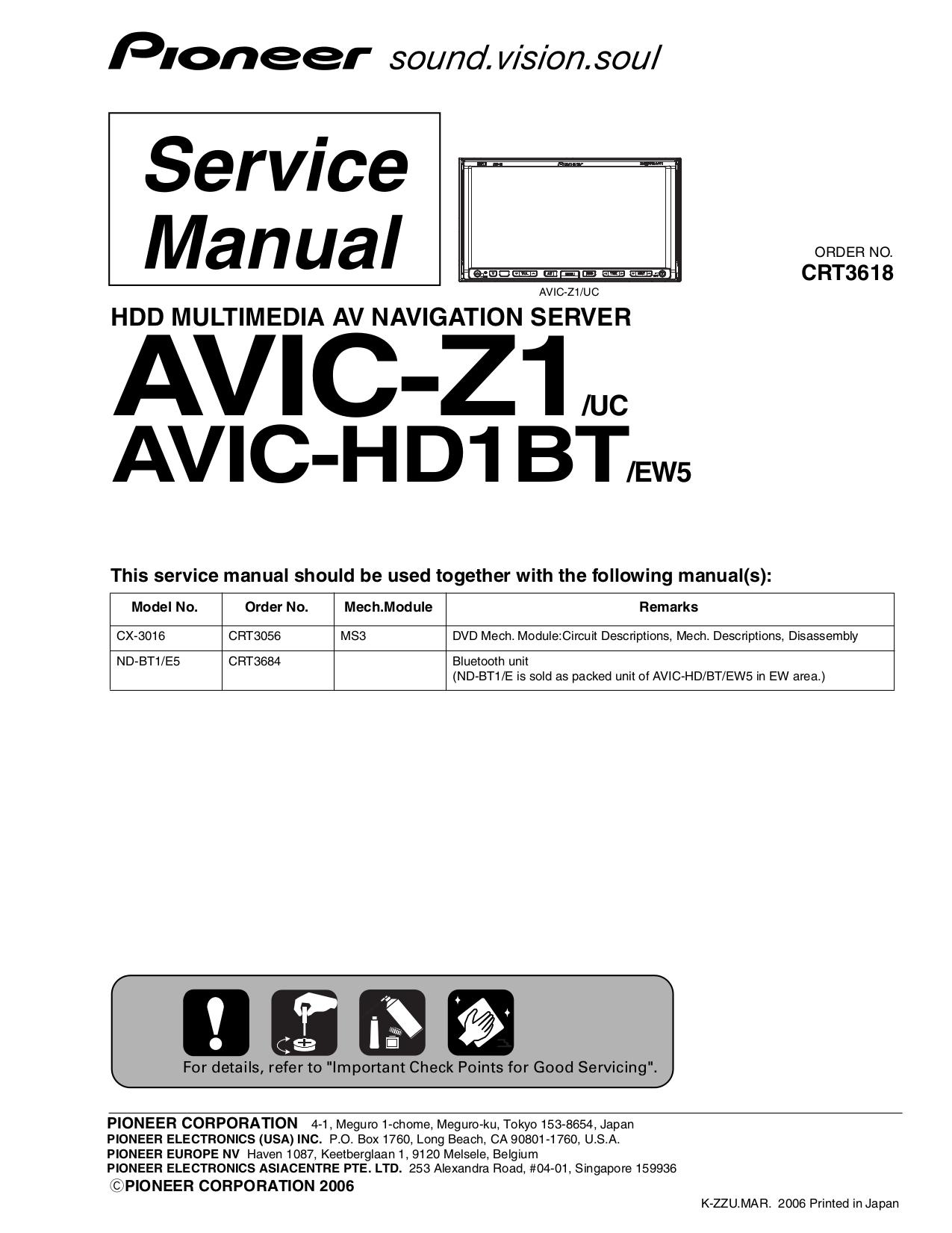 pdf manual for pioneer gps avic z1 rh umlib com pioneer avic z1 installation manual Touch Screen Car Radio Pioneer AVIC-Z1