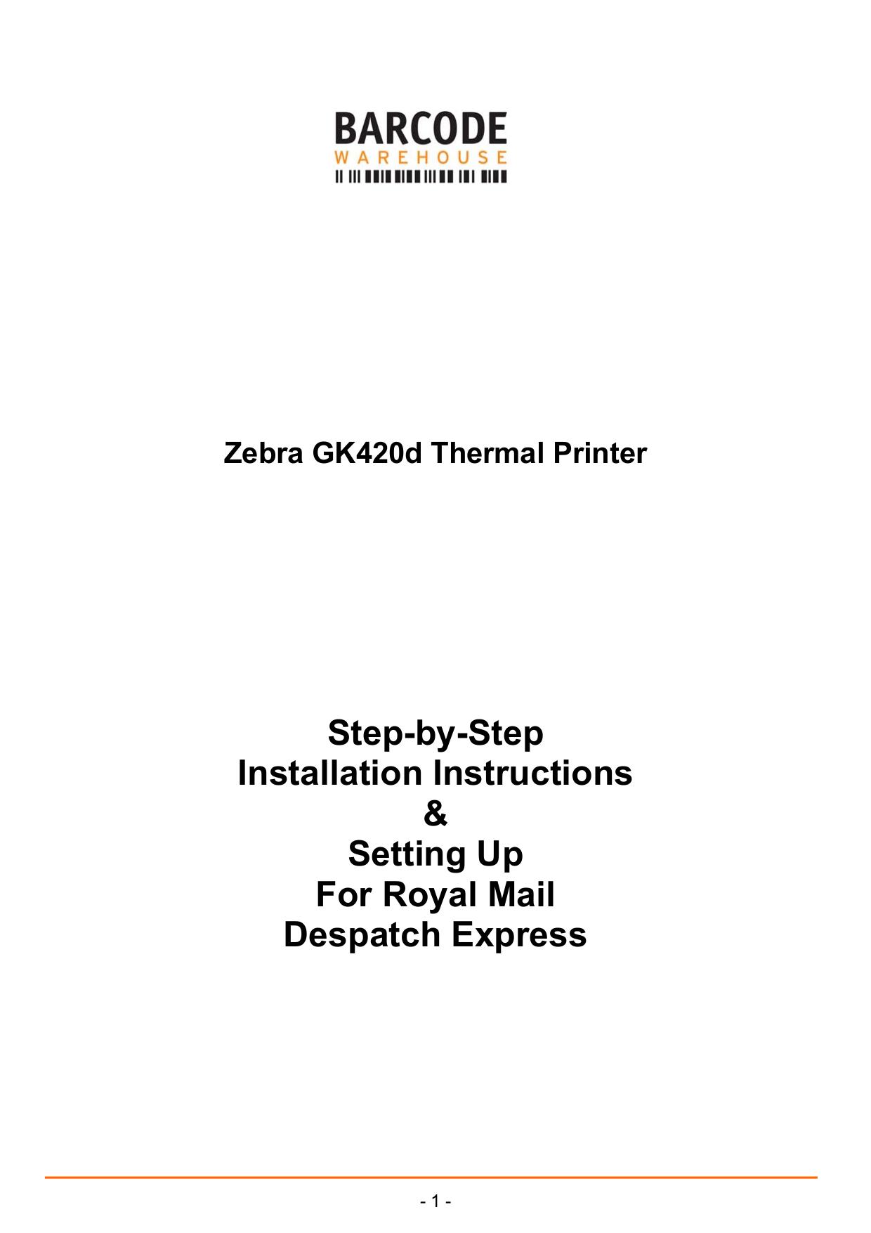 Download free pdf for Zebra GK420d Printer manual