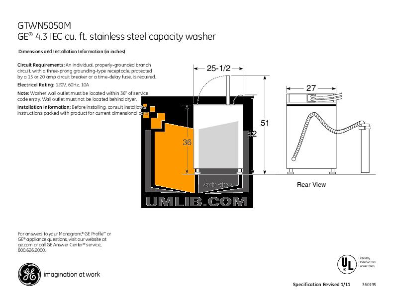 download free pdf for ge gtwn5050m washer manual rh umlib com ge appliance manuals ranges ge appliance manuals refrigerator