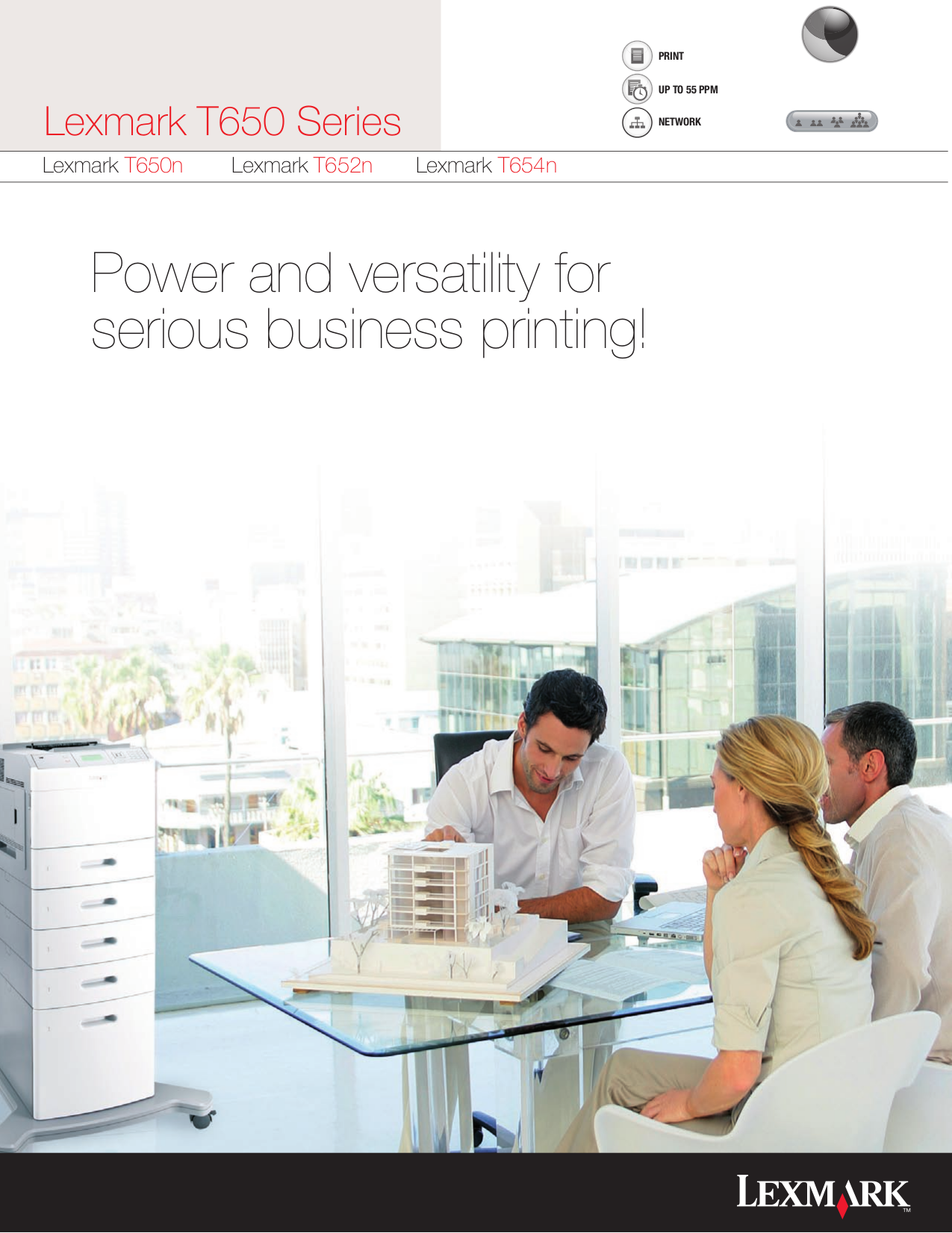 pdf for Lexmark Printer T654n manual
