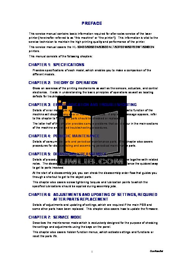 PDF manual for Brother Printer HL-5340D