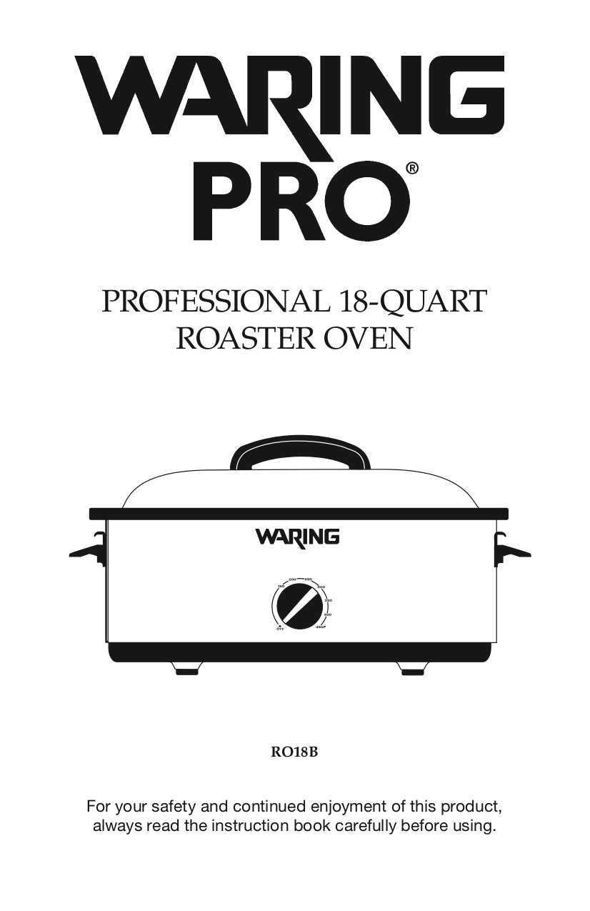 pdf for Waring Oven RO18B manual