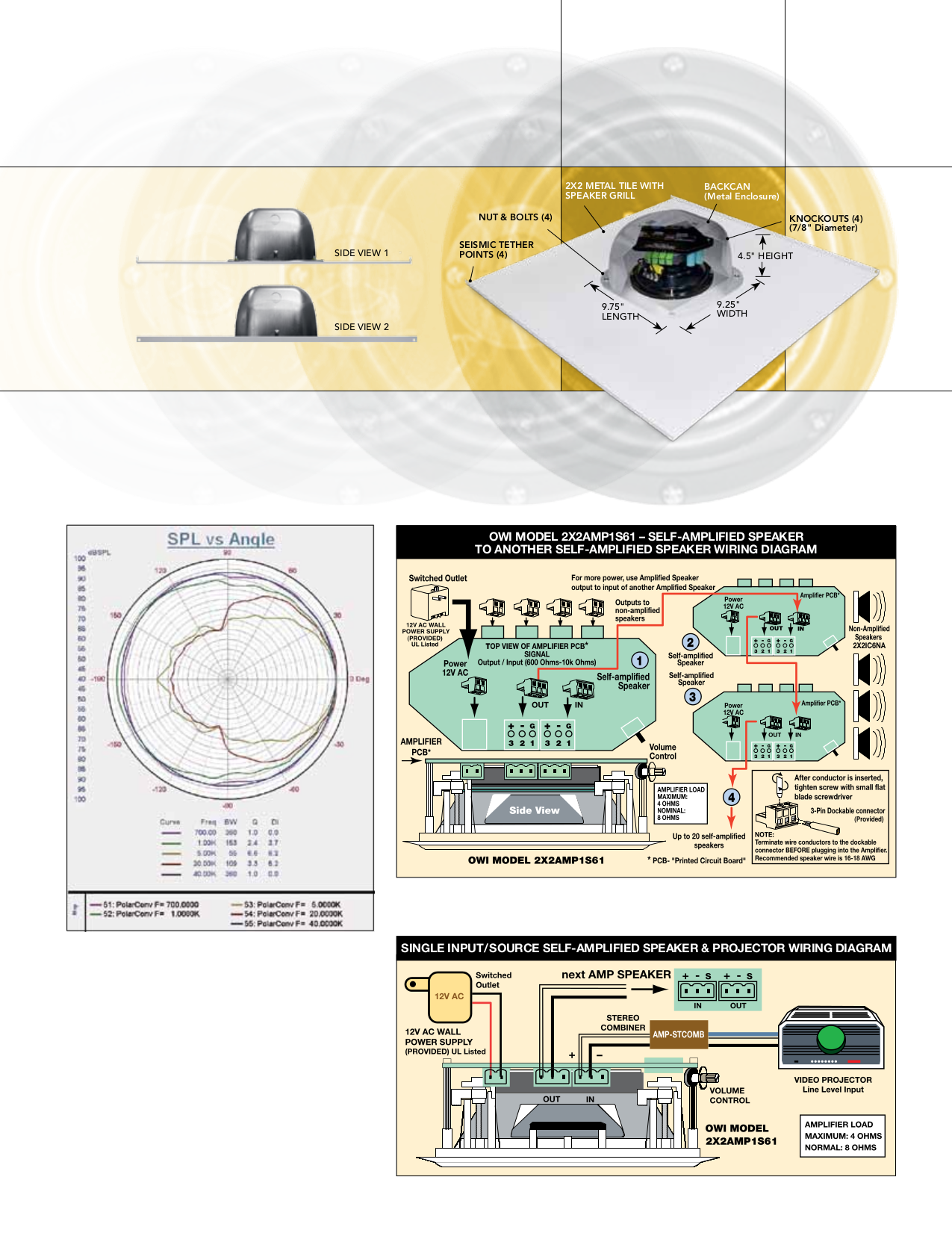 Owi Speaker AMPIC6 pdf page preview