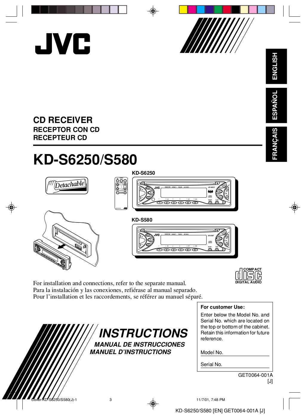 Jvc Wiring Diagram Kd S580