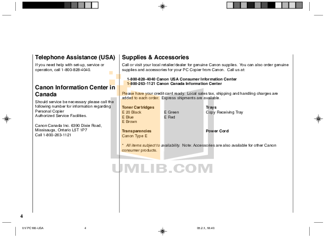 pdf manual for canon copier pc160 rh umlib com Komatsu PC 160 Decree 160 PC