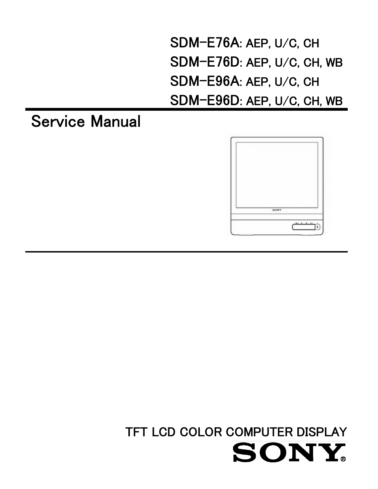 pdf for Sony Monitor SDM-E96D manual