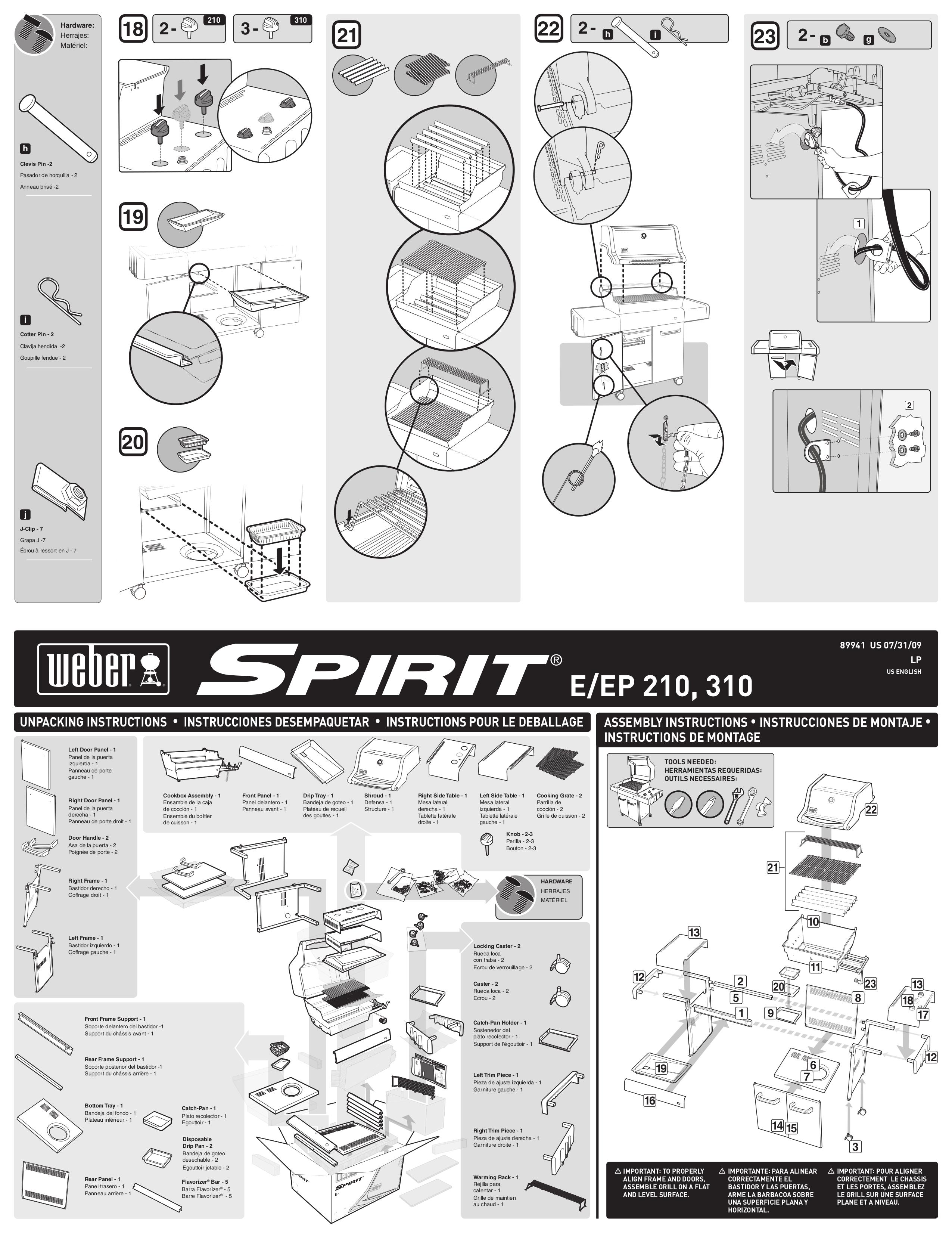 Weber spirit e310 classic manuals.
