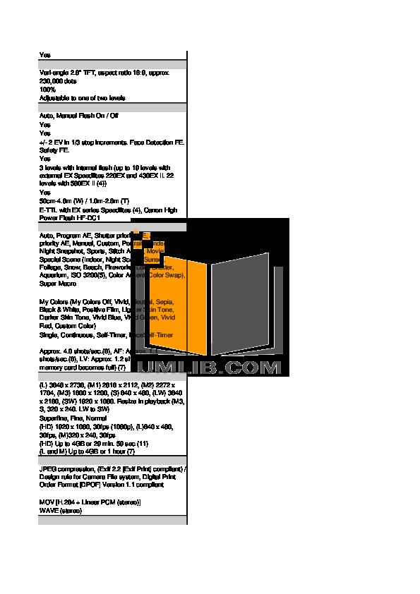 PDF manual for Canon Digital Camera Powershot SX1 IS