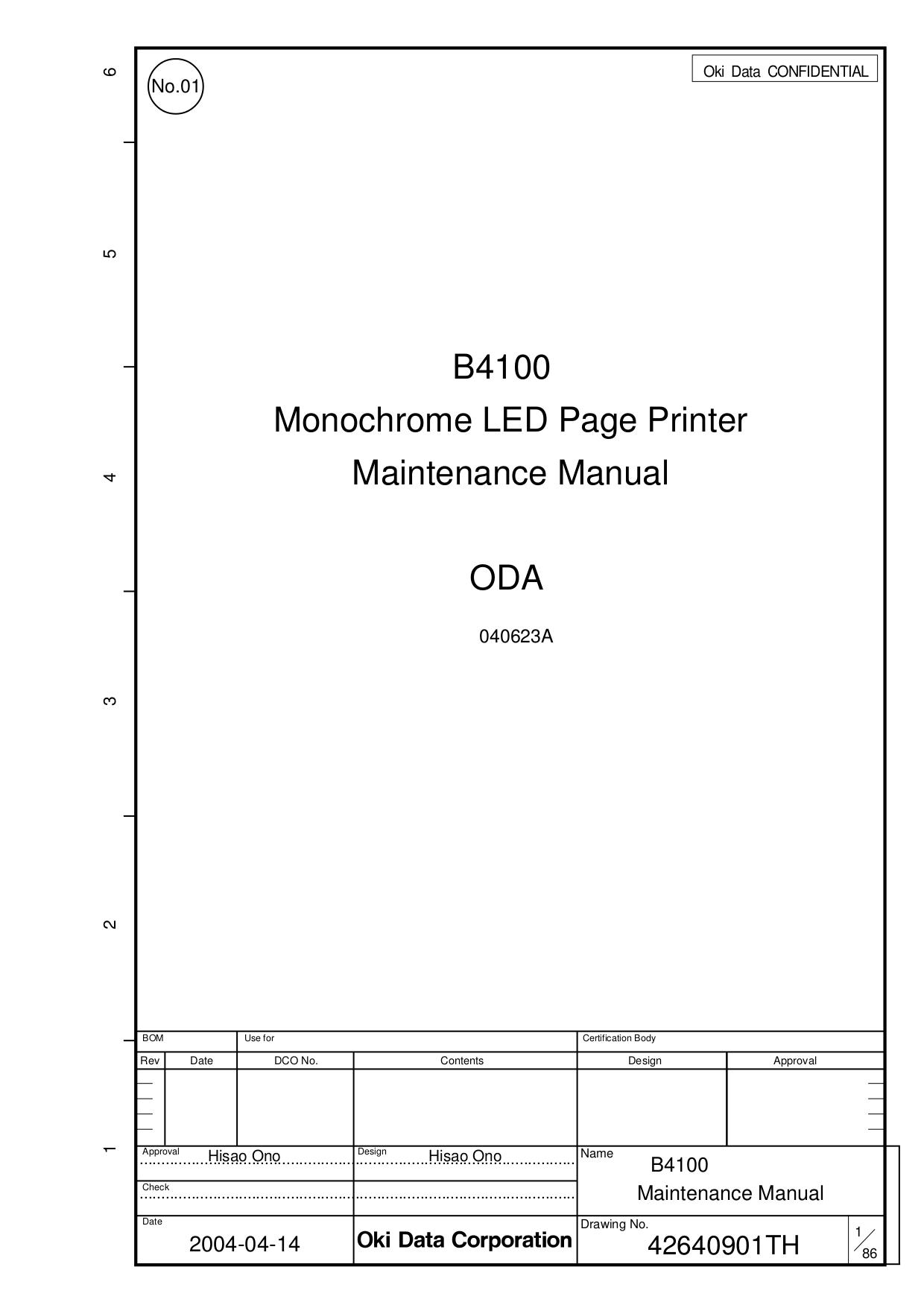 pdf for Oki Printer B4100 manual