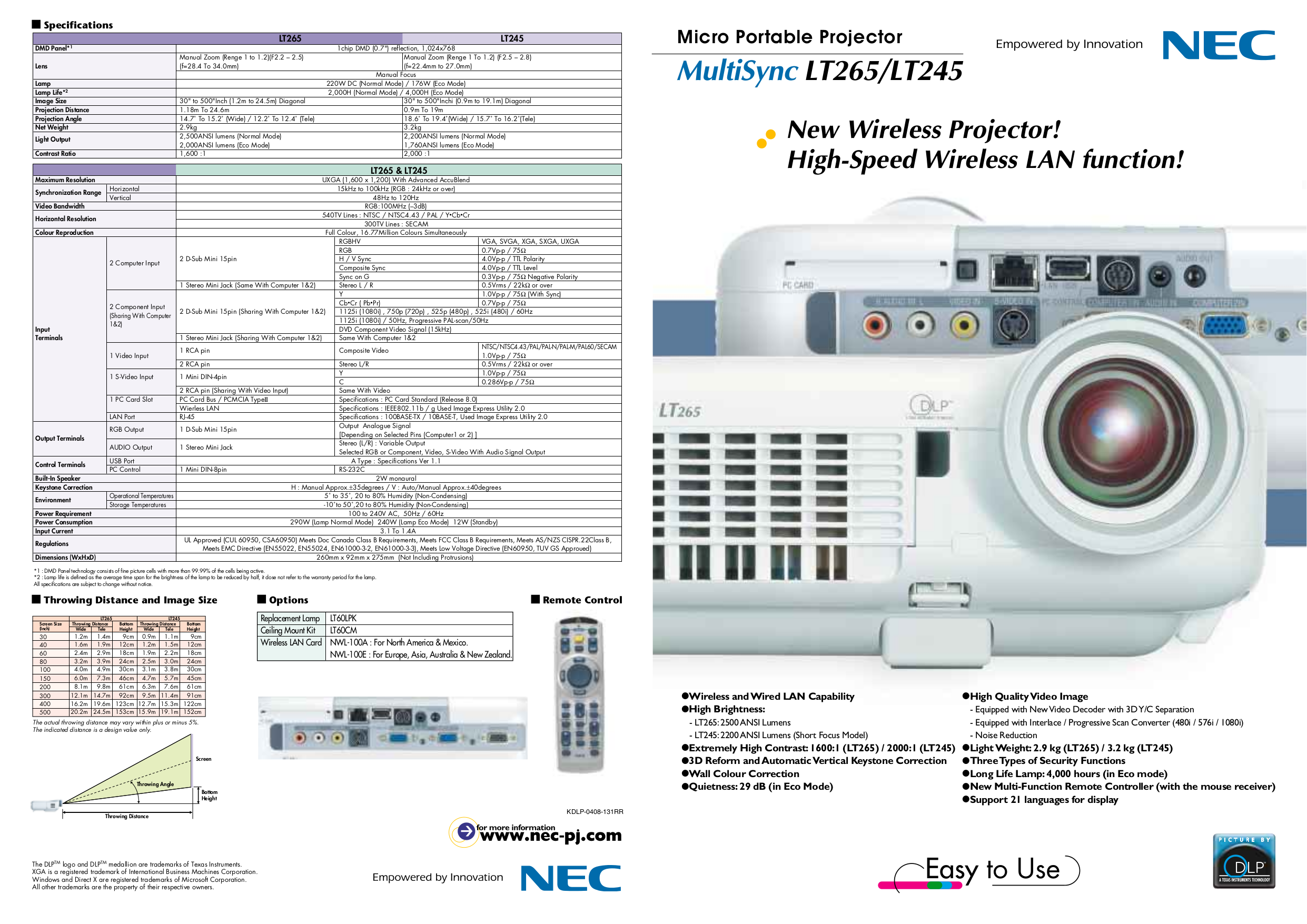 download free pdf for nec multisync lt245 projector manual rh umlib com NEC Overhead Projector NEC Projectors Troubleshooting