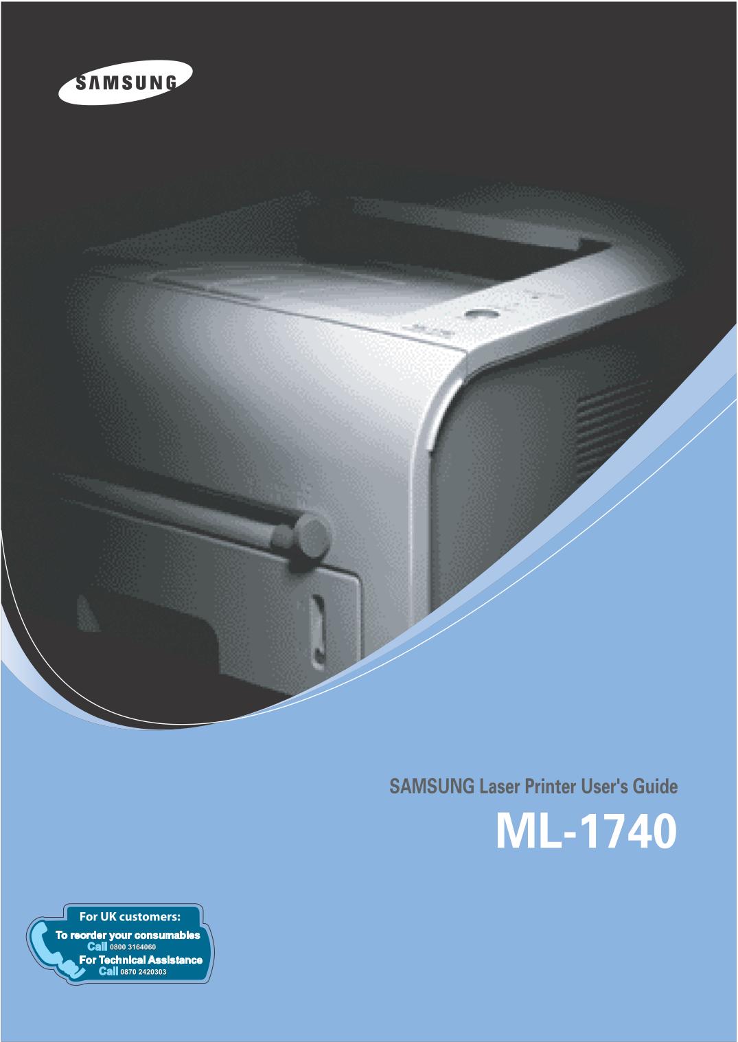 pdf for Samsung Printer ML-1740 manual