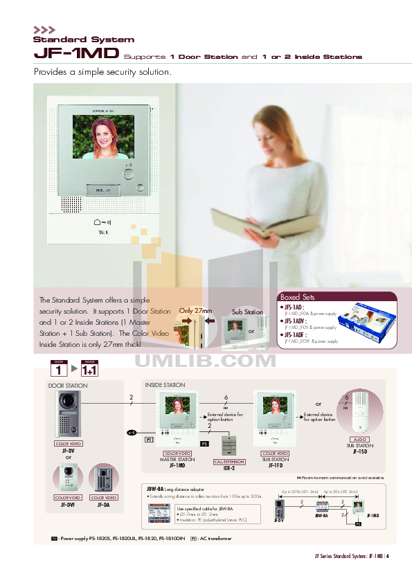 Aiphone Other JB-DVF Intercoms pdf page preview