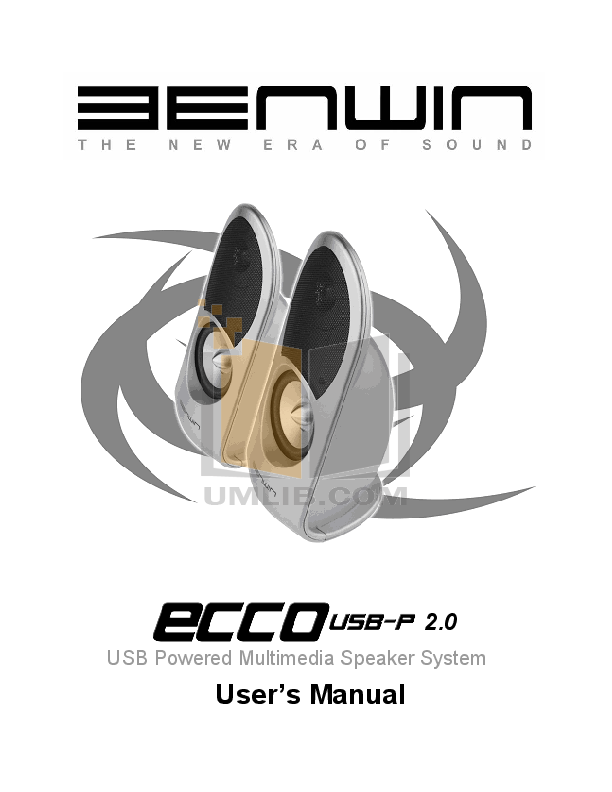 pdf for Benwin Speaker ARC USB-P 2.0 manual
