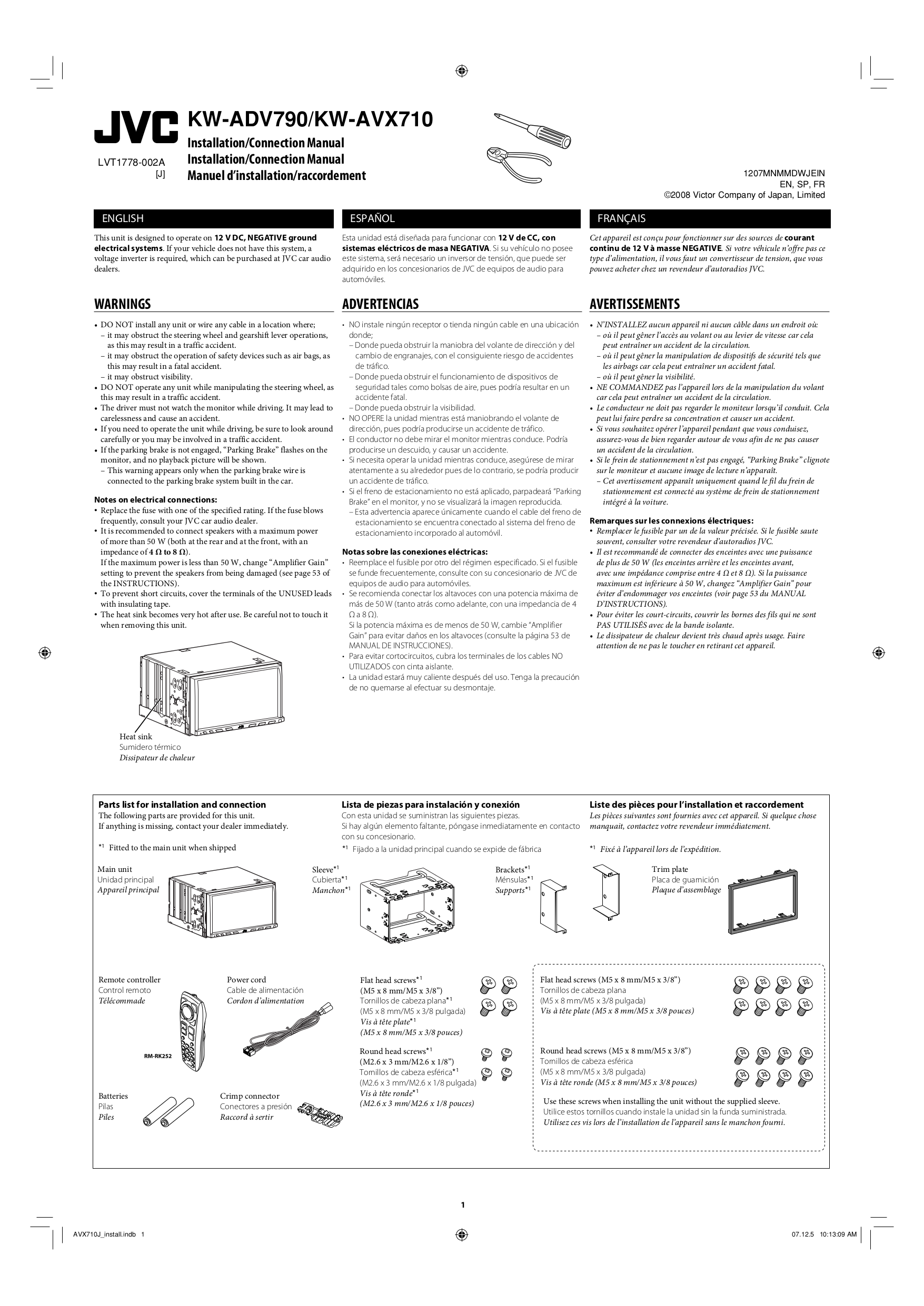 Kw Avx710 Wiring Diagram Library Jvc Car Video Pdf Page Preview