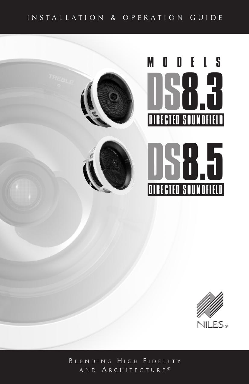 pdf for Niles Speaker DS8.5 manual