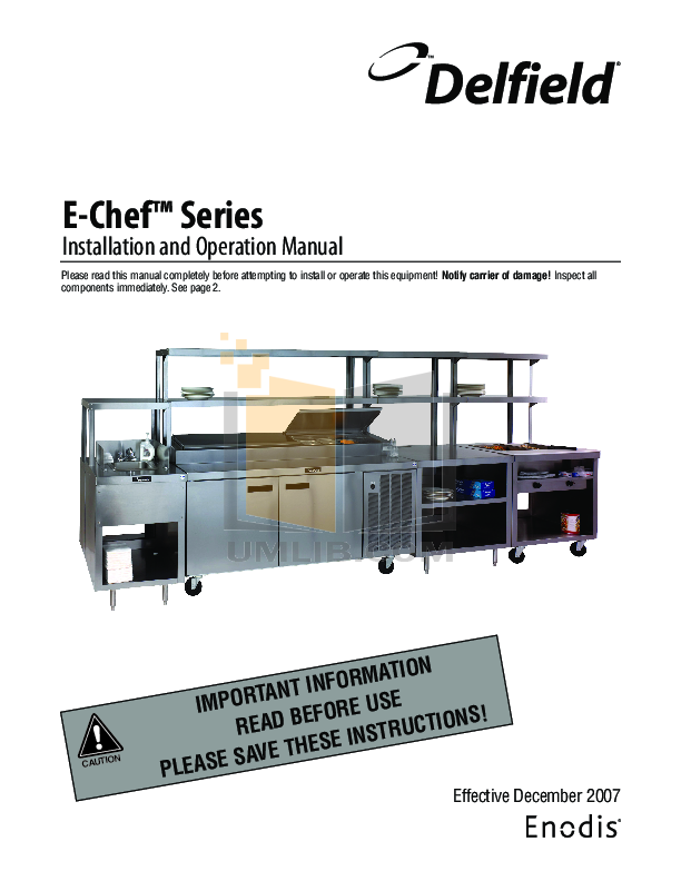 pdf for Delfield Other EHEI60L Hot Food Table manual